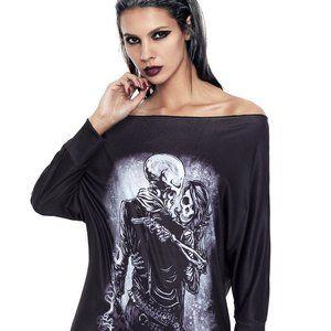 New Womens Skeletons Dress Halloween Costume Large
